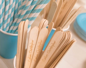 Personalized Wooden Party Spoons