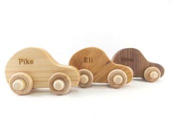 Wooden Toy Car - Personalized Toy Car -  Organic and Eco Friendly - Baby gift - Birthday Present