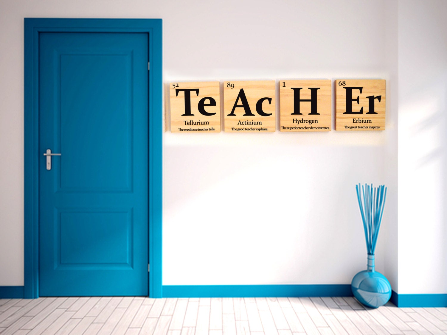 Teacher gift periodic table of elements teacher with inspirational teacher gift periodic table of elements teacher with inspirational quote wooden tiles urtaz Image collections