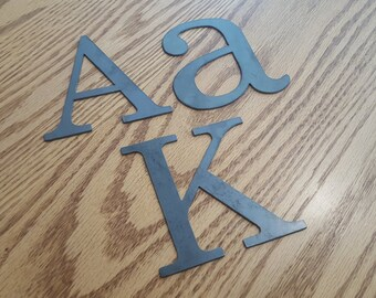 """4"""" Metal letters, numbers and signs (4 inch tall)"""