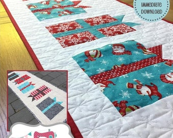 Gifts Galore Patchwork Table Runner PDF Pattern
