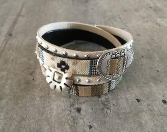 Polymer clay bracelet barjello