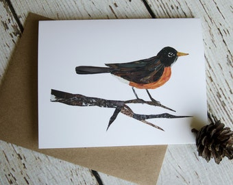 Robin Card of Original Collage
