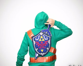 Zelda Triforce of Courage handmade Sweater