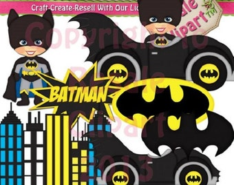 DIGITAL SCRAPBOOKING CLIPART - Batman 1