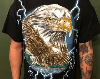 USA Thunder Eagle lightning storm tee