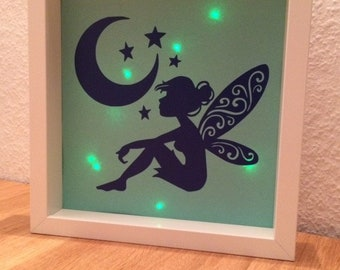 Illuminated Picture Frame Fairy