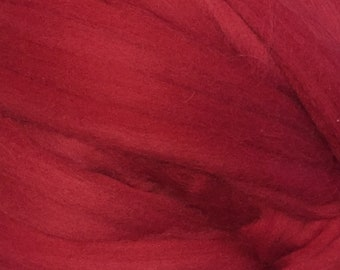 Cinnabar - Commercially Dyed Merino Wool Top