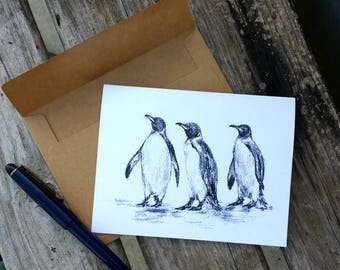 Penguin Note Card/Greeting Card