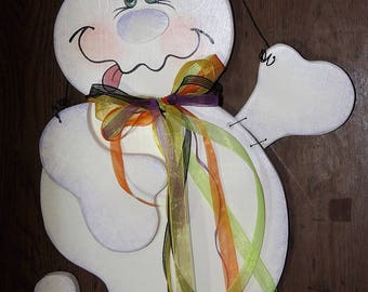 Painting Craft Pattern, Ghost Door Hanger Pattern, Cute Ghost Tole Painting Pattern