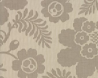 Madame Rouge By French General Moda Fabrics Gray Floral 100% Cotton Quilt Fabric by the 1/2 yard #13774-12