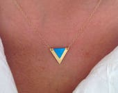Triangle Pendant Necklace...