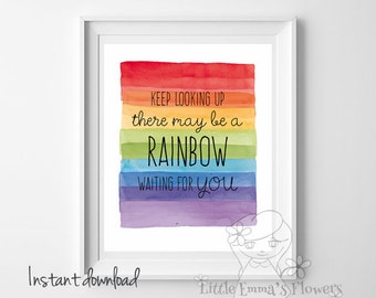 Rainbow nursery print playroom wall art printable Rainbow decor Nursery Decor Kids Room Wall Art multicolored nursery wall art ID23-23