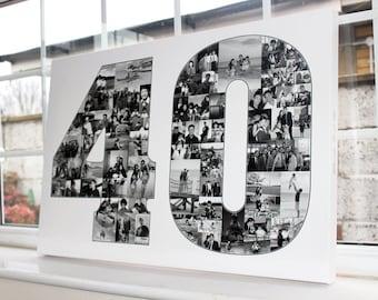 40th Birthday Gift Collage - Digital File