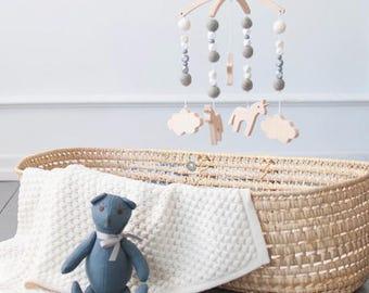 Baby Mobiles | Felt Baby Mobile | Nursery Mobile | Wooden Baby Mobile | Crib Mobile | Cot Mobile | Handmade Baby Mobile
