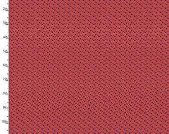 Navy & Red Orange Arrow Fabric, Southwestern Arrows Quilt Fabric, 3 Wishes Pachua 12939, Southwest Quilt Fabric, Cotton Yardage