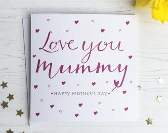 Mother' day card - best mummy Mother's Day card - love you Mummy card - Mummy card - mother's day mummy card