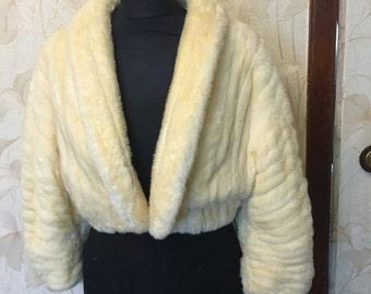 weasel jacket  cape,scarf,stole. No mink fur