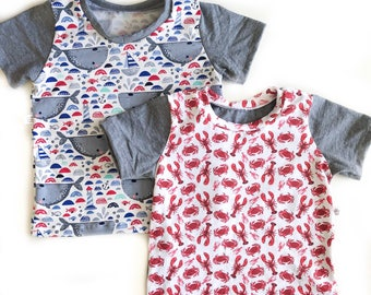 Size 2-3T Crab and Lobster summer Tee / T-Shirt
