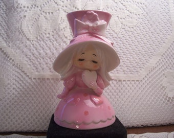 Rare HTF Lefton Valentine Girl Vase, Japan