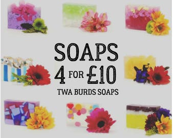 SPECIAL OFFER. Any 4 Soap Bars for 10