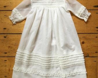 Vintage 1970s Girl's Dress - Baptism/ Christening / Flower Girl Dress