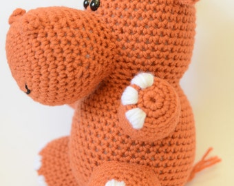 Crochet Hippo Pattern - Crochet Stuffed Hippo - Crochet Hippo Pattern - Crochet Stuffed Animal - Stuffed Animal Pattern - Amigurumi Pattern
