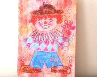 Clown Print on canvas