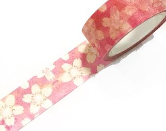 Pink Sakura Cherry Blossoms Washi Tape - For scrapbooking, journaling, DIY