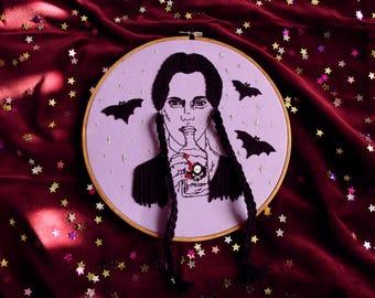 Wednesday Addams, Embroidery Art