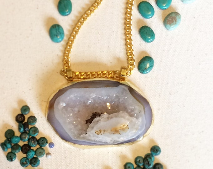 Extra Large Druzy Geode Necklace