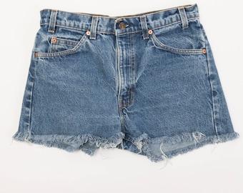 Vintage Levi's 505 Cut Off Shorts- Medium Wash