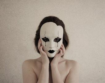 Pierrot Masquerade Mask