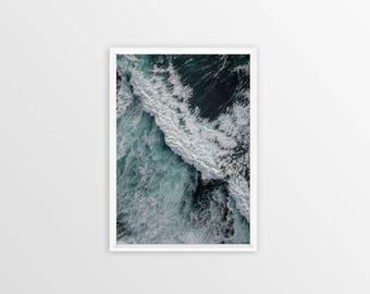 WAVE ART DECOR, Ocean Photo Art, Nature Lover Gift, Wall Art, Photography, Beach Waves Art, Coastal, Ocean Art, Ocean Water Prints, Waves