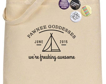 Parks and Recreation. Funny tote bag. Pawnee Goddesses.