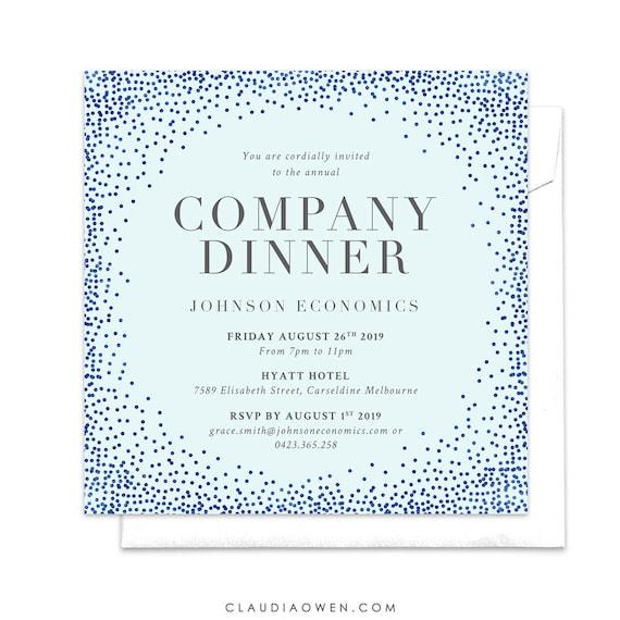 company invitation company dinner business invitation annual