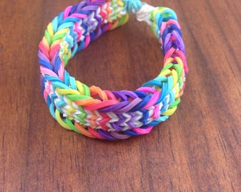 Hand made Fishtail Sandwich Rainbow Loom