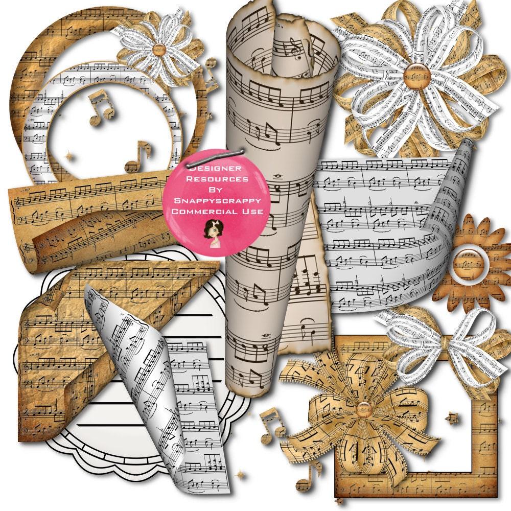 Musik Scrap Kit Digital Scrap Kit Entwerfer Ressourcen