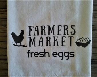 Flour Sack Towel, Farmers Market