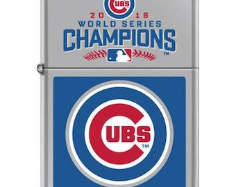 Chicago Cubs World Series Champions Zippo Lighter