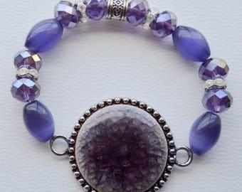 Purple Amethyst Stone Bracelet