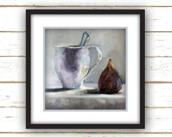 Breakfast Fig - Large Home Decor Wall Art Print