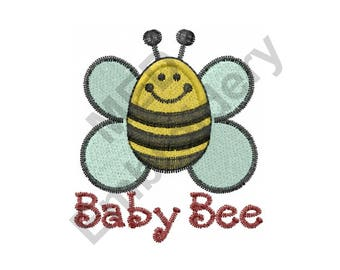 Bee - Machine Embroidery Design, Bumble Bee, Baby Bumble Bee