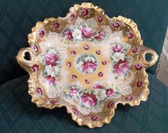 Vintage Estate Royal Kinran Crown Nippon Dish
