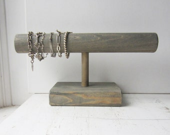 SALE Large Sturdy Bracelet Holder / Display / Organizer - Your Choice of Weathered Grey, Dark Brown or Distressed White