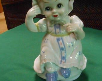 Musical GIRL Porcelain Figure
