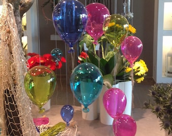"""Coloured Glass Balloon Hanging Decoration,""""iPALLONCINI"""" collection,"""