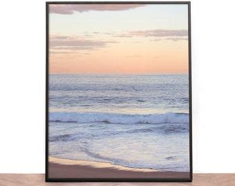 Beach Photography Print, Printable Wall Art, Photography, Wall Art, Ocean, Digital Download, Water, Waves, Coastal, Tropical Beach