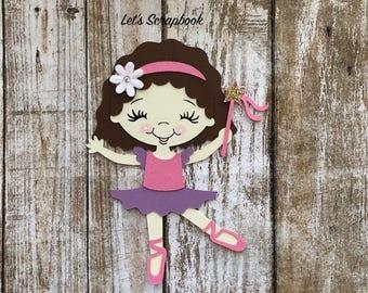 Die Cut, Ballerina, Paper Crafts, Paper Die Cut, Die Cuts, Paper, Embellishments, Birthday, Scrapbooking, Card making, Handmade Crafts