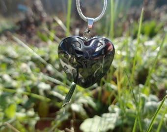 heart pendant necklace with Hematite